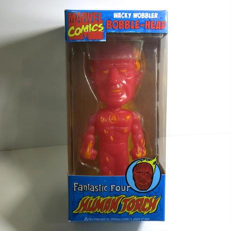 Funko -Wacky Wobbler-Bobble Head(ボビングヘッド):ファンタスティック フォー ヒューマントーチ