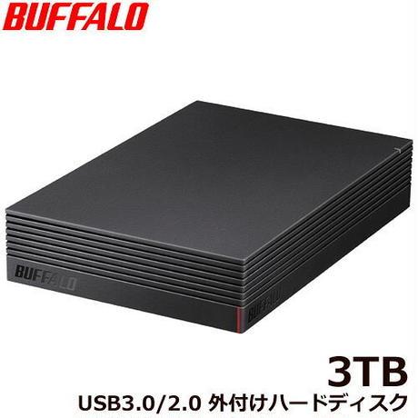 HD-NRLD3.0U3-BA バッファロー HD-NRLD3.0U3-BA [USB3.1/USB3.0/USB2.0 外付けHDD PC用&TV録画用 静音&防振&放熱設計 日本製 3TB]
