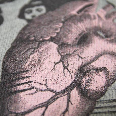 心臓パーカー_灰×ピンク