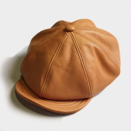 LEATHER CASQUETTE (CAMEL)