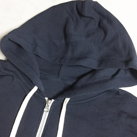 CHAIN STITCH EMB ZIP HOOD