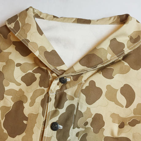 SHAWL COLLAR CAMO COVERALL