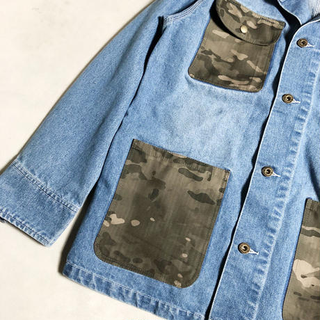 WASHED DENIM COVERALL