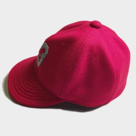 43 LOGO WOOL BESEBALL CAP (RED)