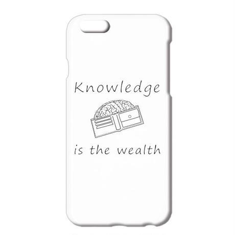 送料無料 [iPhone ケース] Knowledge is the wealth  2