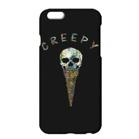 8/8Plus対応[iPhoneケース] Creepy ice cream / Black