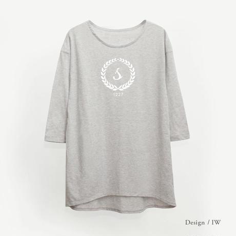 レディース 9分袖Tシャツワンピース / グレー
