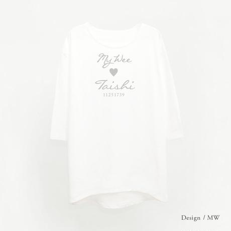 レディース 9分袖Tシャツワンピース / ホワイト