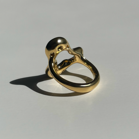 Floral Ring (yellow sapphire)