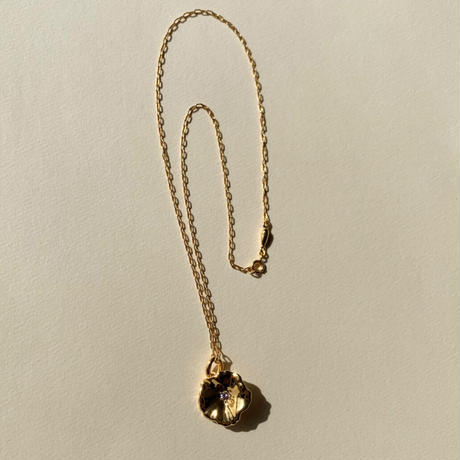 Petunia Necklace (pink sapphire)