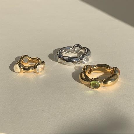 Division Ring ー 6 parts ver. (peridot, citrin, strawberry quartz)