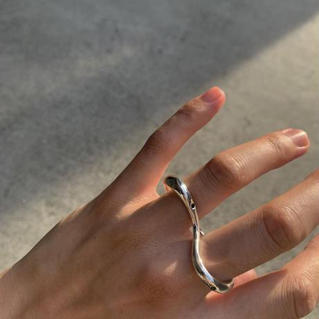 Two fingers Loop (green sapphire)