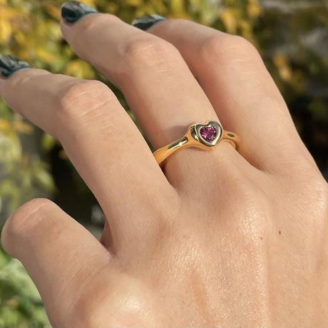 Heart Ring (pink tourmaline)
