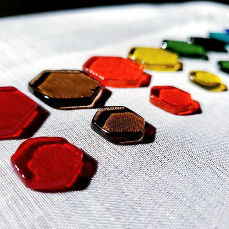 【セラピスト用】色ガラスのヘキサゴンのみ*光と色の【オリジナル・カラーセラピーツール】