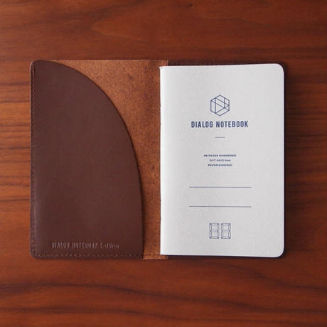 dunn ダイアログノート本革ノートカバー(限定企画|ブラウン)
