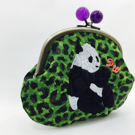 POWERFUL PANDA (GR)|coin purse [DW2-4003]