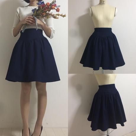 【SorM】コルセットLIKEスカート(デニム)