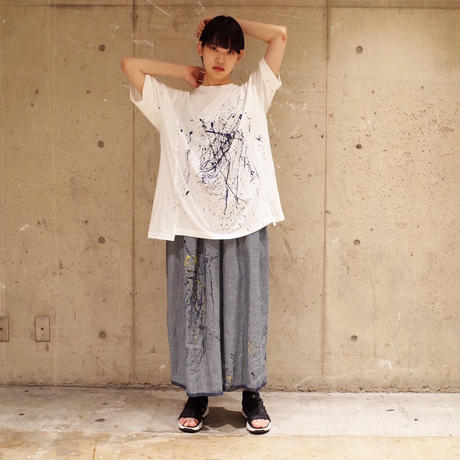 00○○ ペイントワイドTシャツ /1907-271