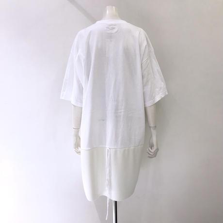 00○○ 切替えワンピース(ショートスカート タックver. ※男性着用可能) /1904-18 WHITE