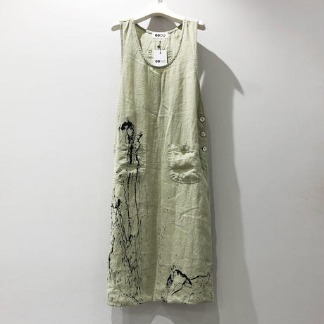 00○○ ペイントサロペットスカート /1907-253.