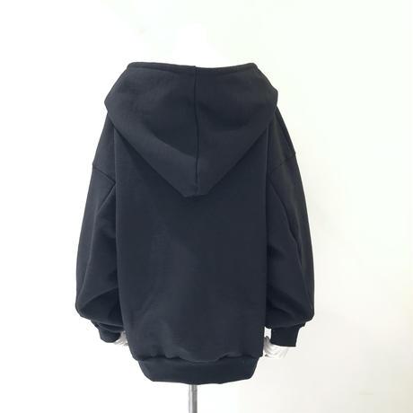 00○○ コットン裏起毛フォールパーカー BLACK / 2012-11