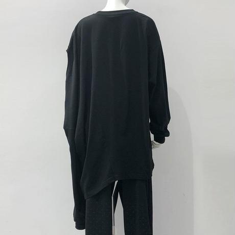 00○○ ツインカットソー /1908-228  BLACK