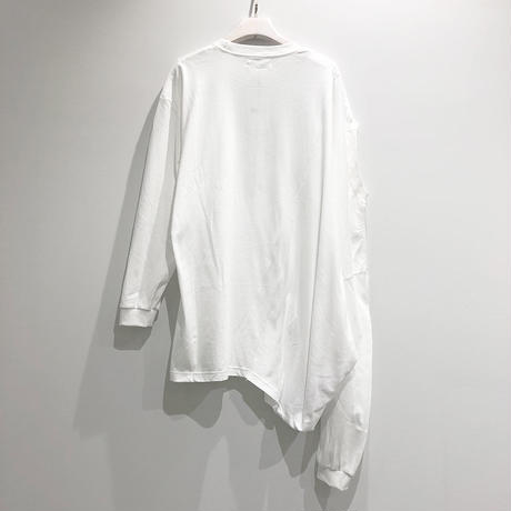 00○○ ツインカットソー /1908-228  WHITE