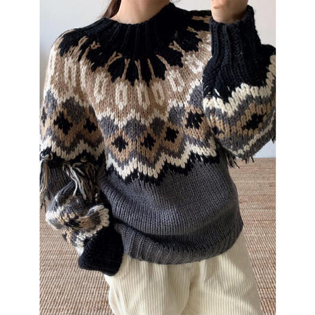 【SALE】【HAND MADE】nordic knit