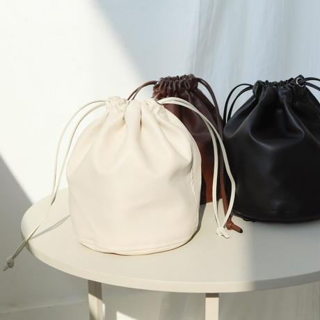 fake leather kinchaku bag