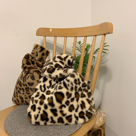 leopard mini fur bag
