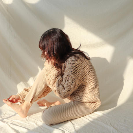 【SALE】【HAND MADE】volume sleeve knit