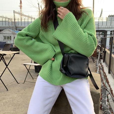 hyneck flare sleeve knit