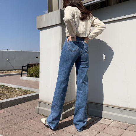 【S,M,L】high waist denim pants