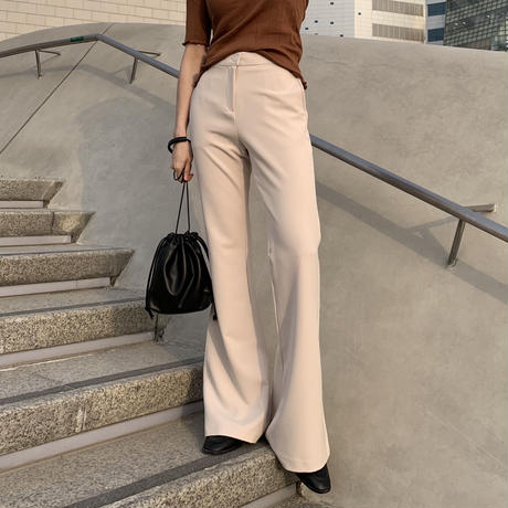 full length flare slacks pt