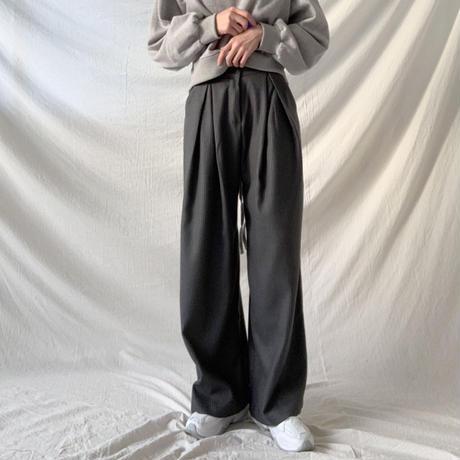 stripe tac wide pants