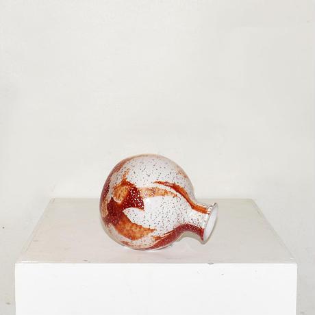 Marble Ball Flower Vase(W11×H13)/RED