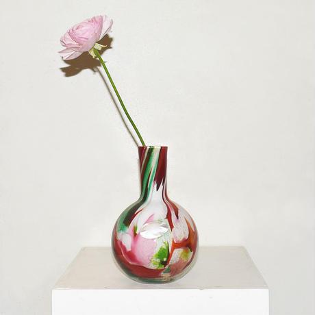 Marble  flask Flower Vase(W14×H20)/MULTI