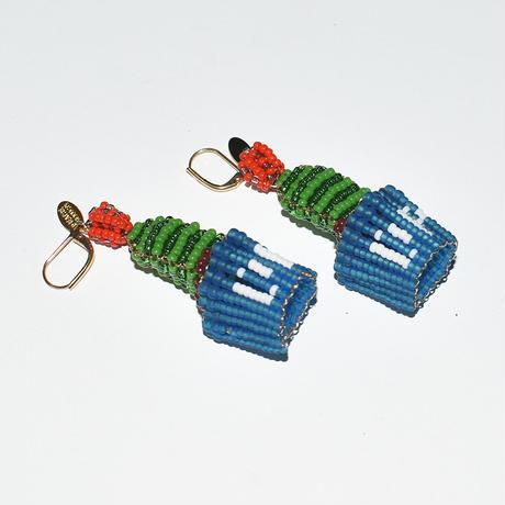 Beads Blue Pot Pierce