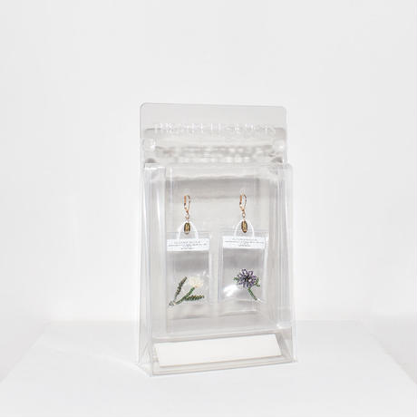 Clear Bag Earring/PURPLE