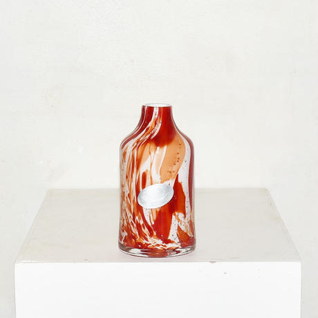 Marble Cylinder Flower Vase(W8×H16)/RED