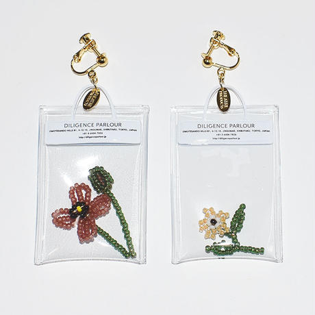 Clear Bag Earring/BROWN