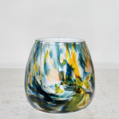 Marble Flower Vase(W11×H11)/GREEN