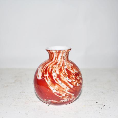 Marble Ball Flower Vase(W8×H9)/RED