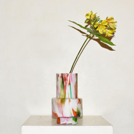 Marble cylinder flower vase(W8×H24)/MULTI