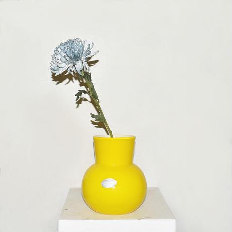 Flask Flower Vase(W17.5×H21)/YELLOW