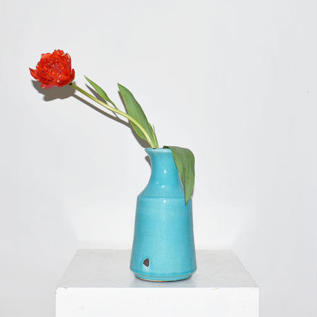 Ceramic flower vase with crazing(W12×H23)/BLUE