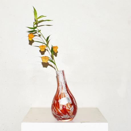 Drop Marble Flower Vase(W10×H18)/RED