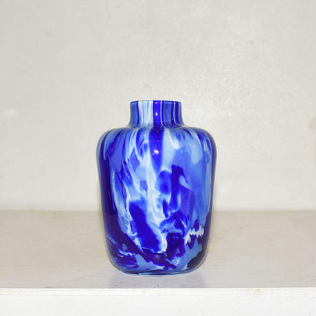 Marble flower vase(W10×H16.5)/BLUE