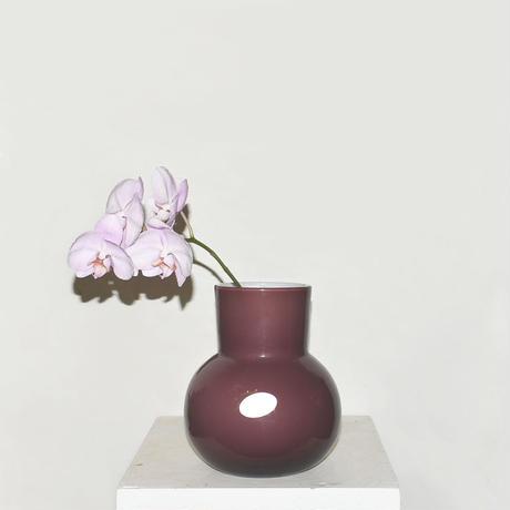 Flask Flower Vase(W17.5×H21)/BORDEAUX