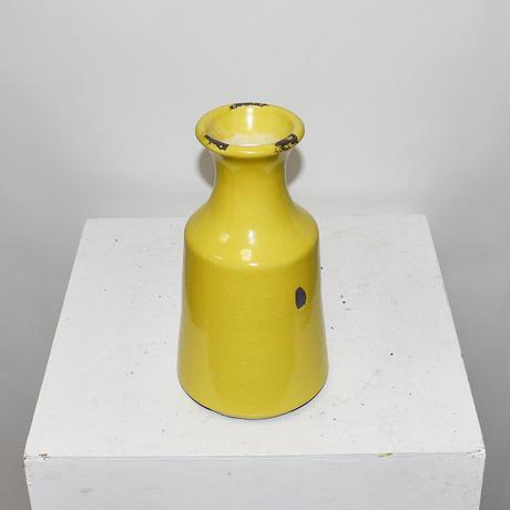 Ceramic flower vase with crazing(W12×H23)/YELLOW